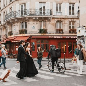 Париж с высоты в квартале Марэ