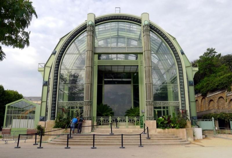 Сад растений в Париже - вход