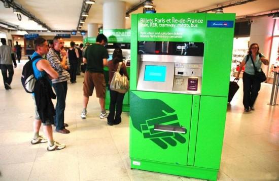 Автомат продажи билетов метро Парижа