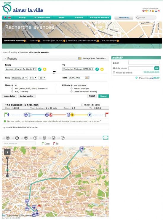 Как проложить маршрут на метро в Париже 2