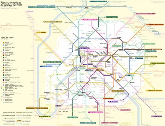 Скачать схему метро Парижа