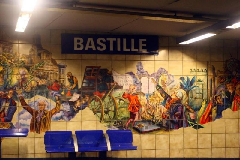 Метро в Париже - Bastille
