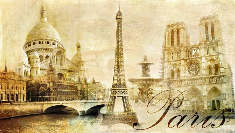 beautiful Paris - vintage post card