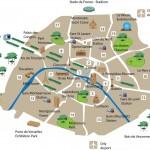 Карта округов Парижа с достопримечательностями