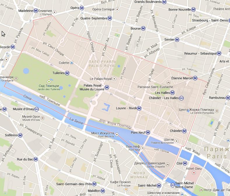 1 округ Парижа – Лувр - Louvre
