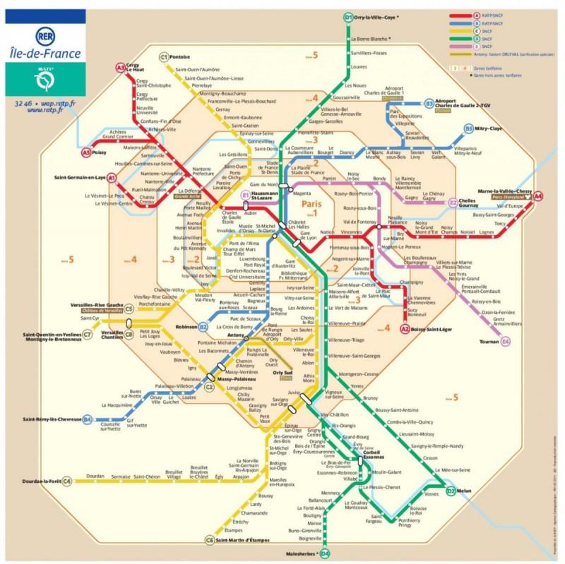 зоны парижского метро