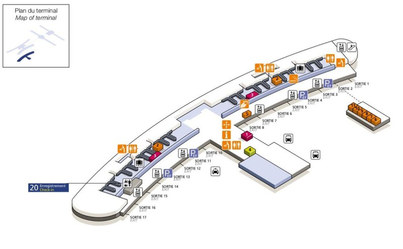 Терминал 2Е (зона прилёта)