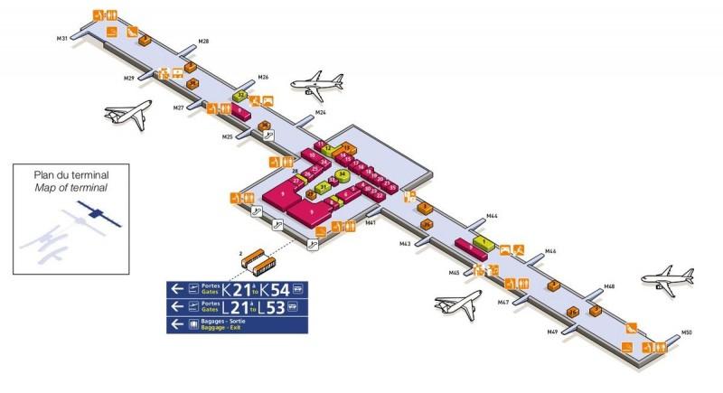 Терминал 2Е (пути M21-M50)