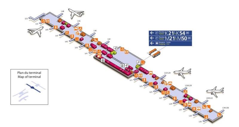 Терминал 2Е (L21-L53)
