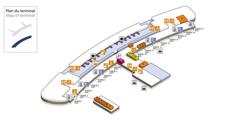 Терминал 2F (зона прилетов)