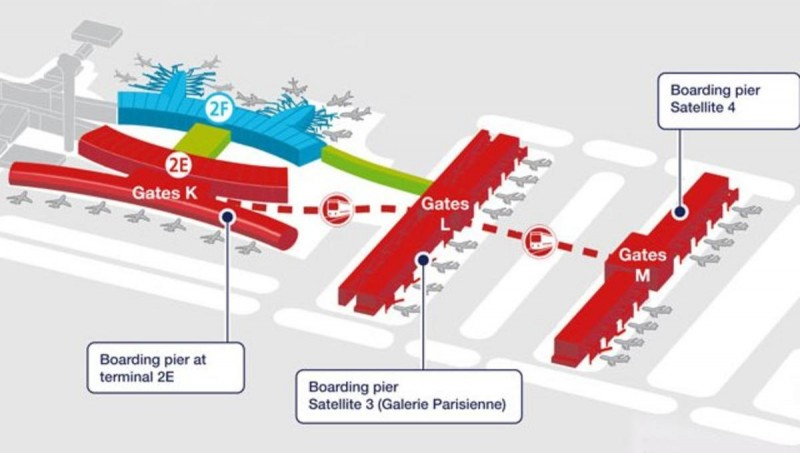 Air-France-CDG-hub-map