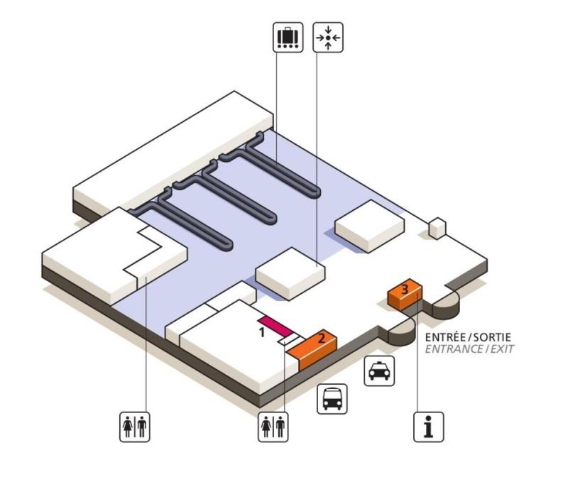 Терминал 3 (зона прилета)